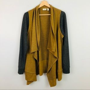 LOGO Lounge | Soft Colorblock Open Front Cardigan